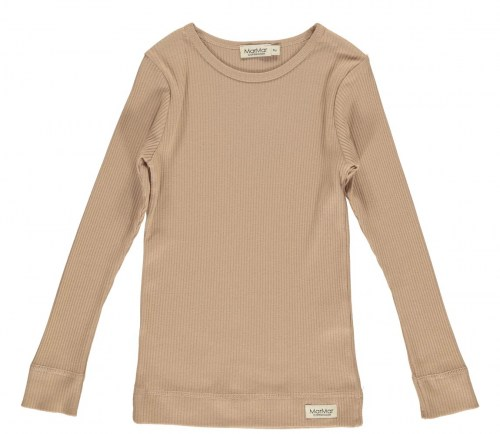 Marmar Copenhagen - Plain Tee LS, Modal, T-shirts, Kids Rose brown