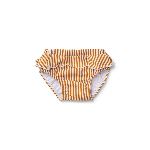 Liewood - Elise baby girl swim pants seersucker mustard white