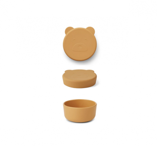 Liewood - Carrie snack box mr bear small yellow mellow