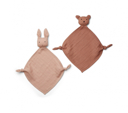 Liewood - Yoko mini cuddle cloth 2-pack rose mix